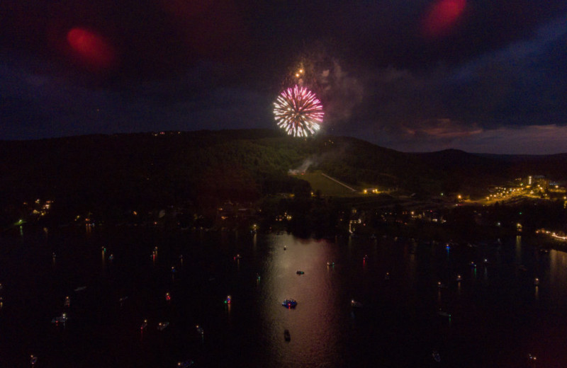 Fireworks at Railey Vacations.
