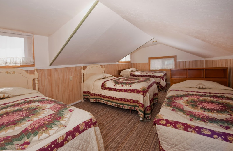 Cabin bedroom at Valhalla Resort & Vacation.