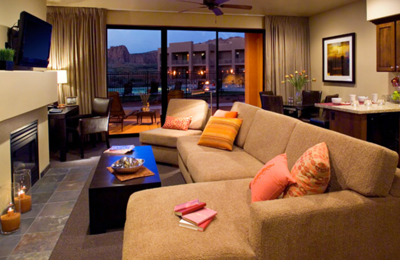 Villa living room at Red Mountain Resort & Spa.