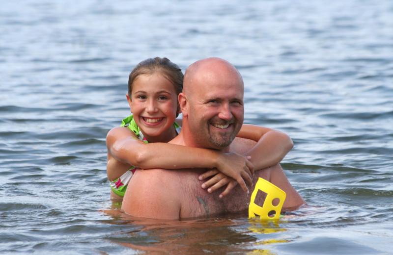 Swimming at Bay View Lodge.