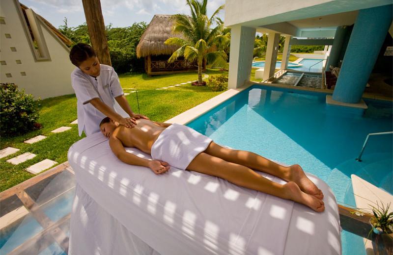 Spa massage at BlueBay Grand Esmeralda.