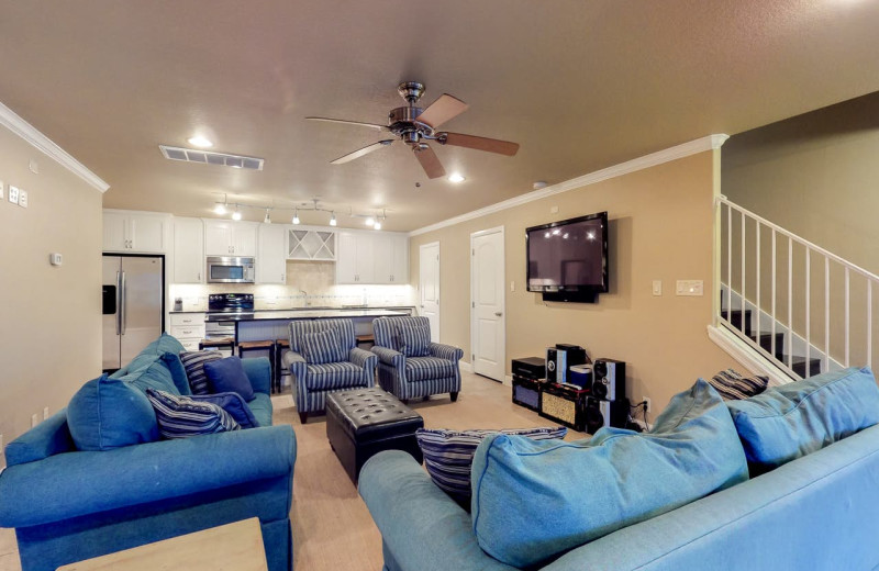 Rental living room at Still Waters Vacation Home.