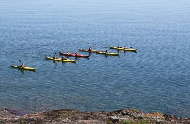 Kayaking at Bluefin Bay on Lake Superior.