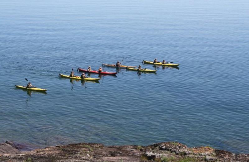Kayaking at Bluefin Bay on Lake Superior.