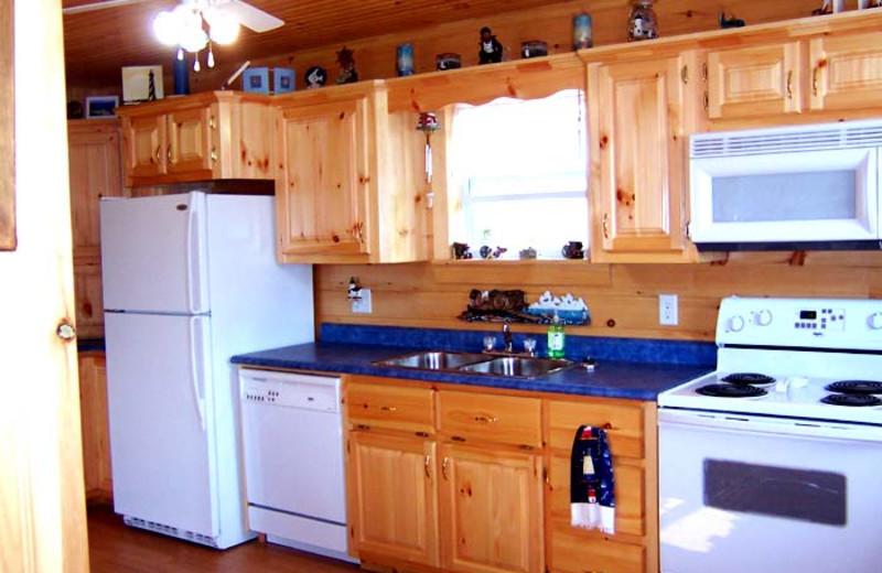 Cottage kitchen at Miramichi Lodge.