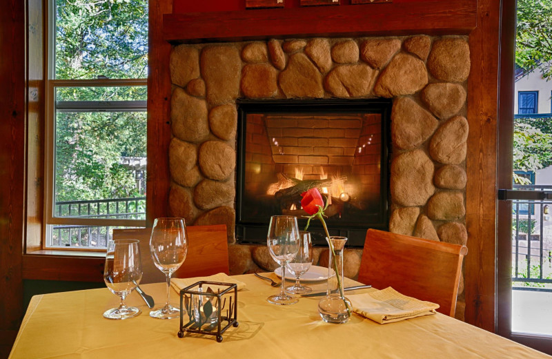 Romantic dining at Applewood Inn, Restaurant and Spa.
