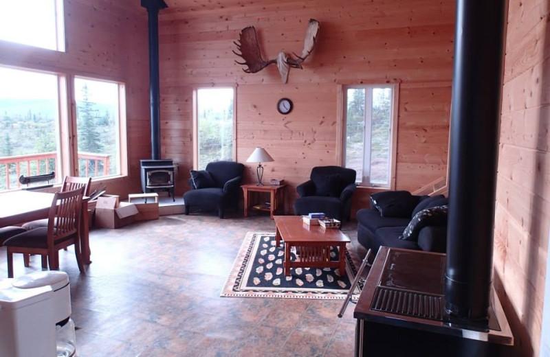 Lodge lounge at Alaska Trophy Adventures Lodge.