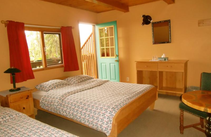 Guest room at Alexa Chalets -Timber Inn & Restaurant.