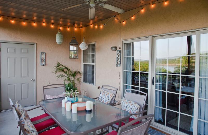 Guest balcony at Rockwood Resort.