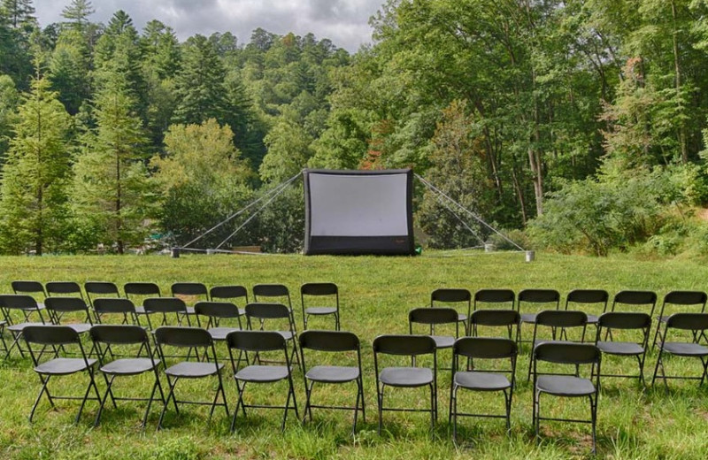 Outdoor theater at Fontana Village Resort.