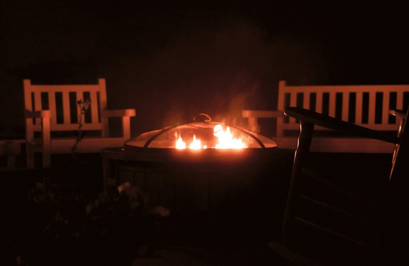 Bonfire at Mount Battie Motel.