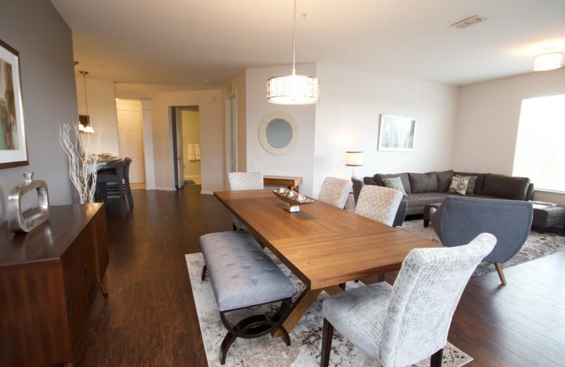 Rental dining area at Orlando Luxury Escapes Vacation Rentals.