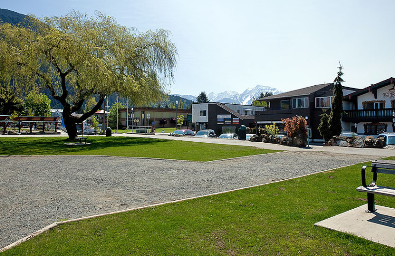 Park near Harrison Beach Hotel.