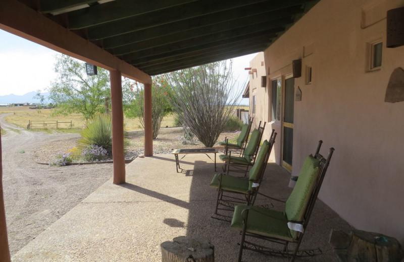Porch at Rancho Milagro Bed and Breakfast.