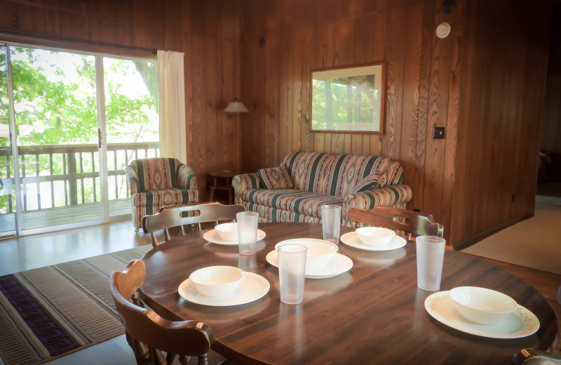 Cabin interior at Rock Harbor Resort.