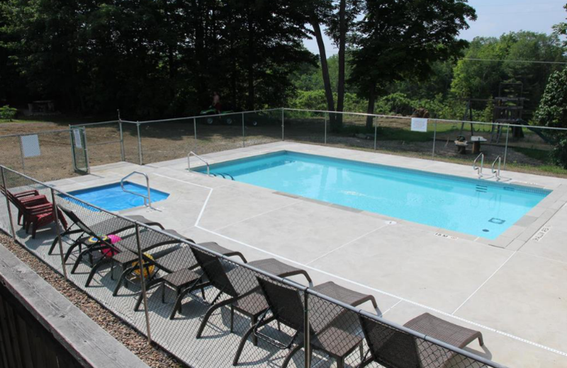 Outdoor pool at Myers Cave Resort.