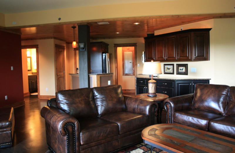 Condo living room at Highland Rim Retreats.