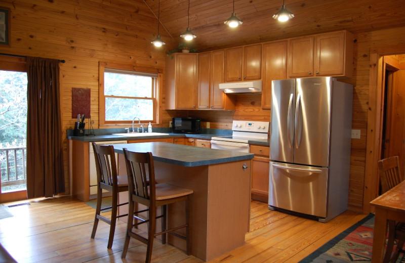 Kitchen at Harvest Moon Cottages.
