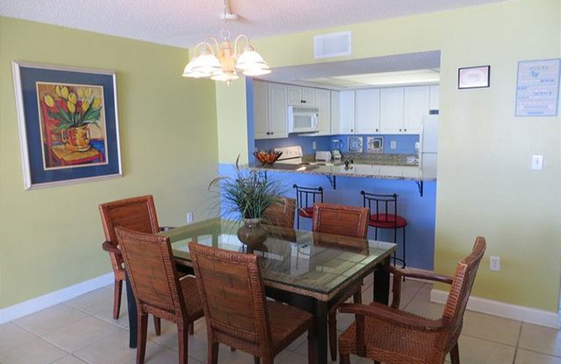 Rental kitchen at Aqua Vacations and Sales Group.