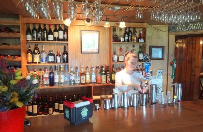 Bar at Garnet Hill Lodge.
