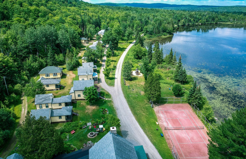 Aerial view of Quimby Country Lodge & Cottages.
