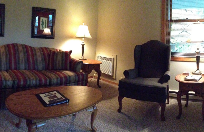 Guest room at High Point Inn.