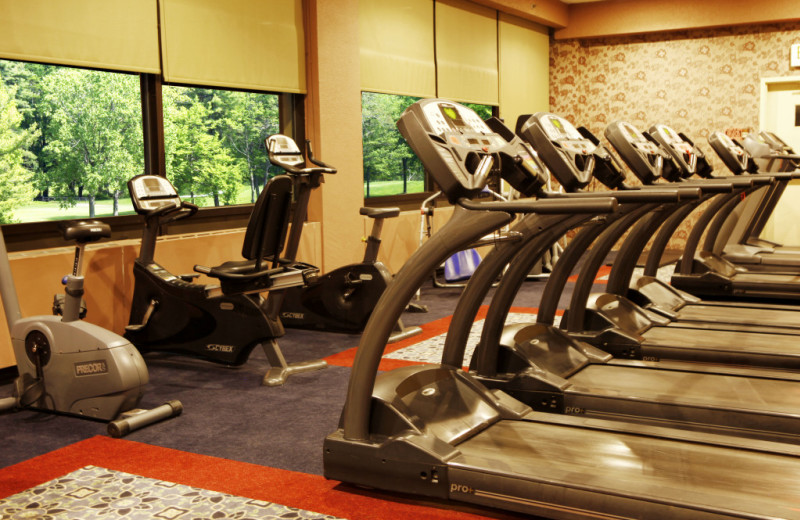 Fitness room at Honor's Haven Resort & Spa.