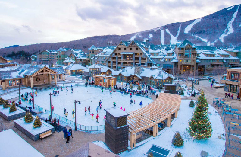 Winter at Stowe Mountain Lodge.