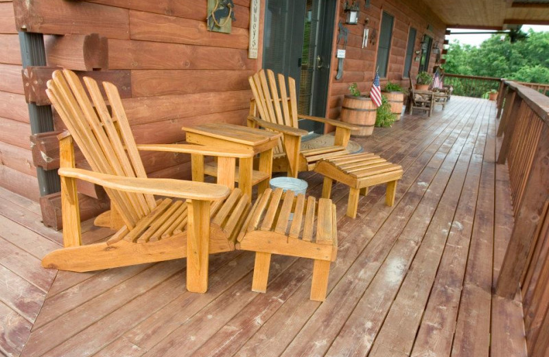 Relax on deck at Harpole's Heartland Lodge.