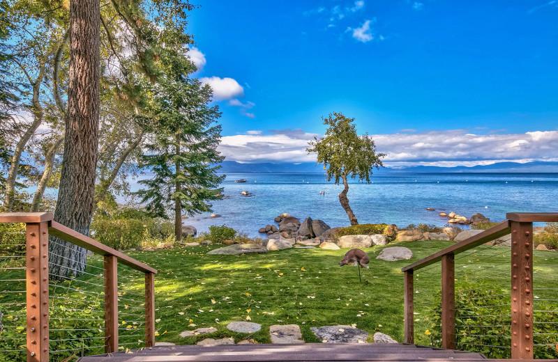 Rental lake view at Lake Tahoe Accommodations.