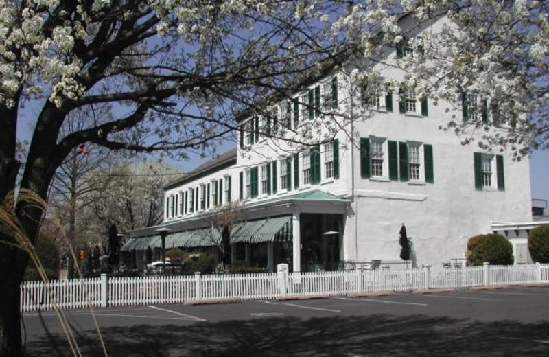 Exterior view of Brick Hotel & Restaurant.