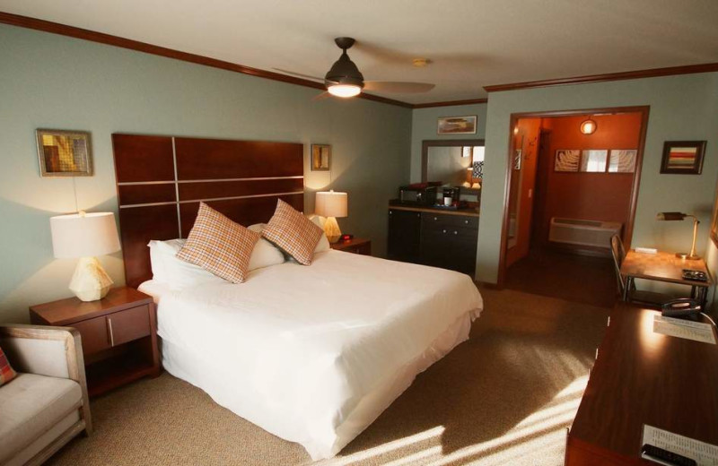 Guest room at Mountain View Lodge.