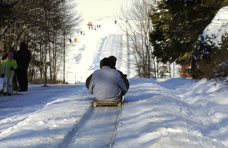 Tobogganing at Eagles Mere Inn.