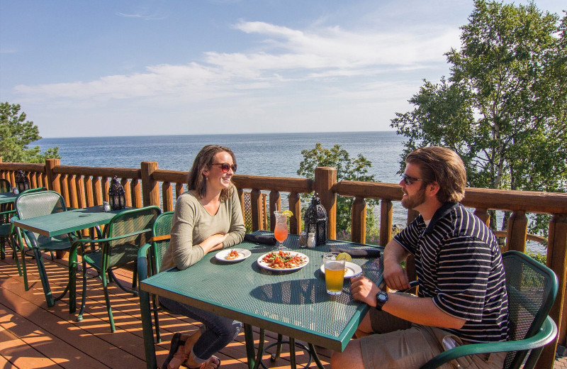 Dining at Grand Superior Lodge on Lake Superior.