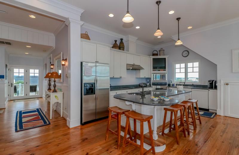 Rental kitchen at Sea Star Realty.