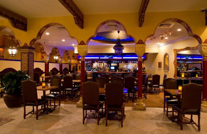 Dining room at Casa Monica Hotel.