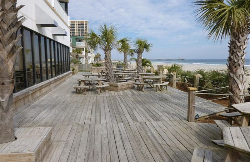Vacation rental deck at Myrtle Beach Vacation Rentals.