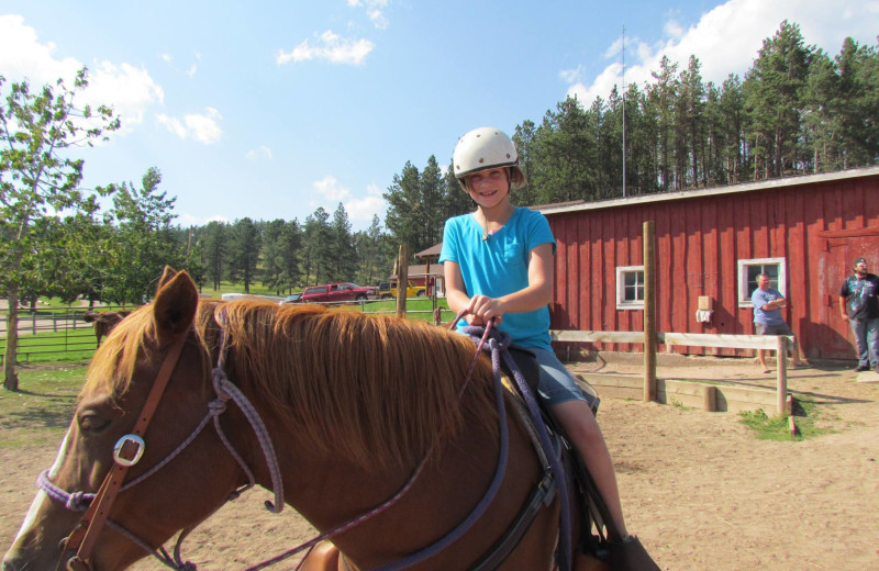 Horseback riding at High Country Guest Ranch.