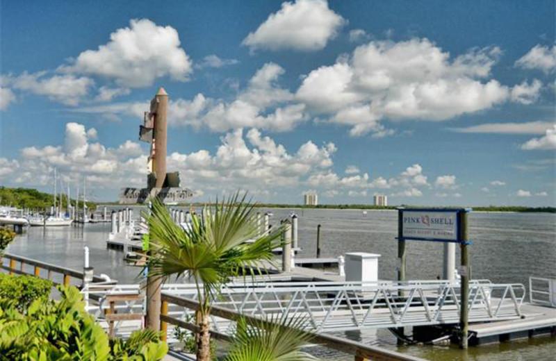 Docks at Tri Power Resort Rentals.