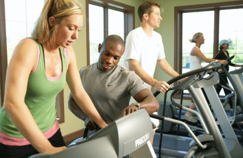 Fitness center at Riverstone Resort & Spa.