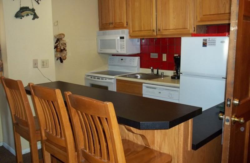 Kitchen at Lifts West Condominium Hotel