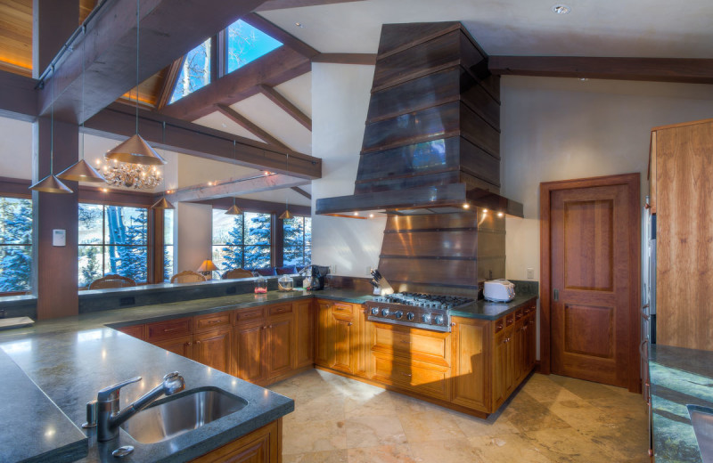 Rental kitchen at Accommodations in Telluride.