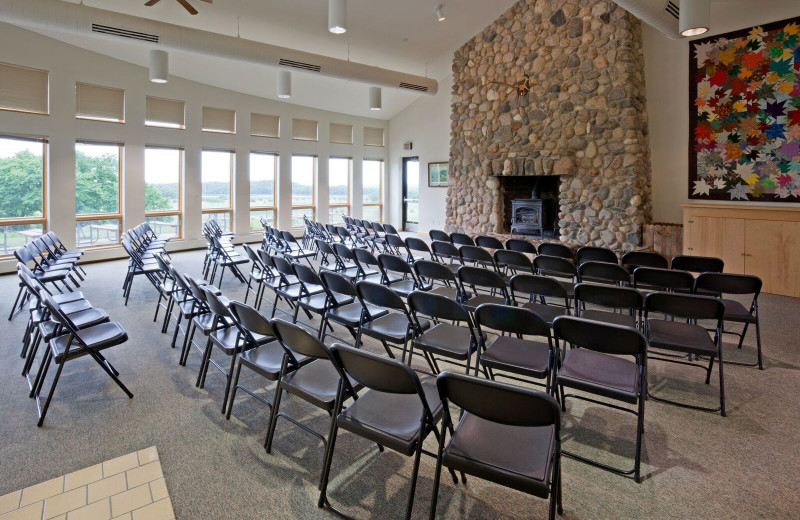 Meeting room at Spicer Green Lake Resort.