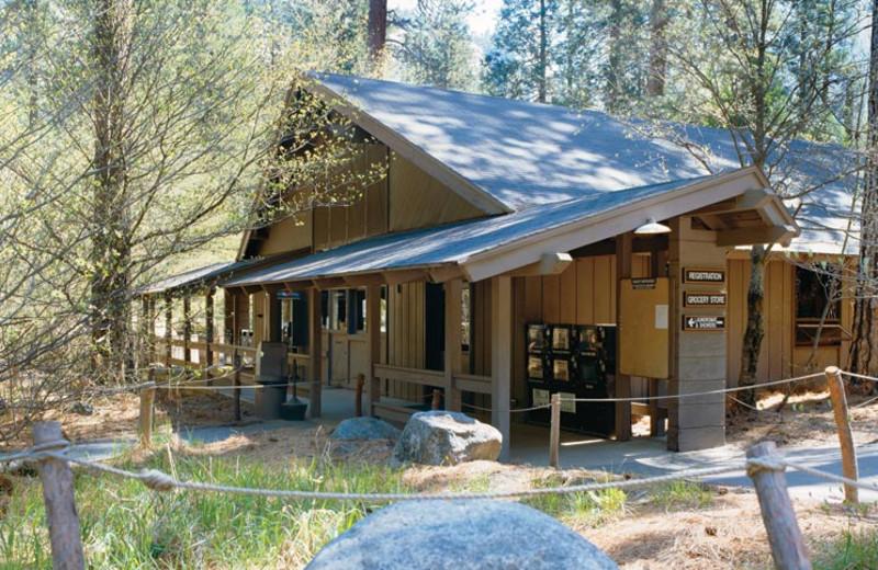 Exterior view of Yosemite Lodge at the Falls.