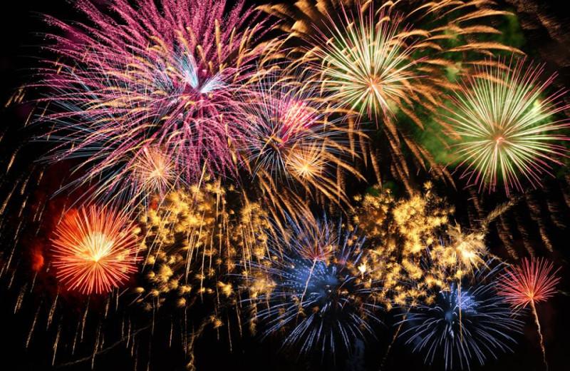 Holiday fireworks at Big Cypress Lodge.