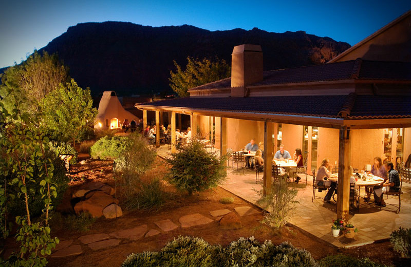 Outdoor dining at Red Mountain Resort & Spa.