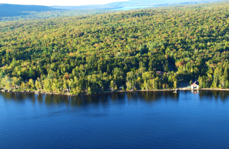 Aerial view at The Birches Resort.