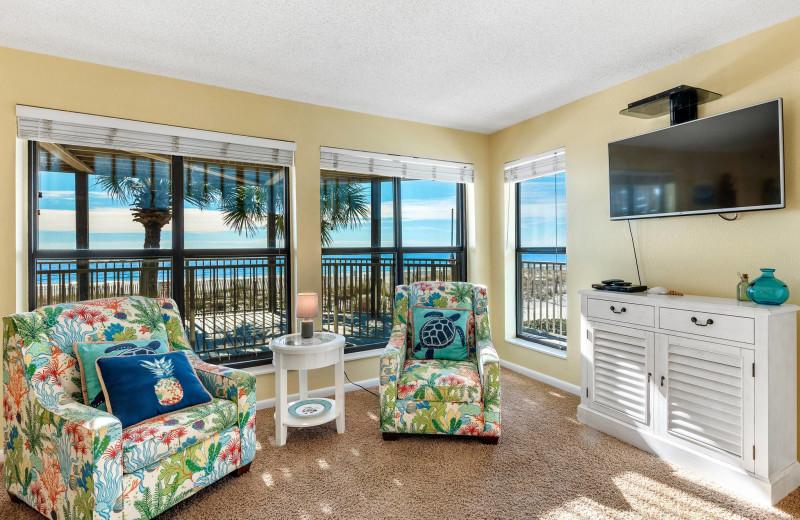 Rental living room at Bender Realty Vacation Rentals.