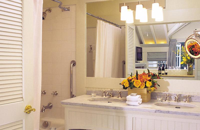 Cottage bathroom at Meadowood Napa Valley.