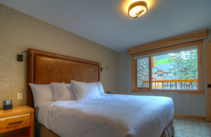 Guest room at Moose Hotel & Suites.
